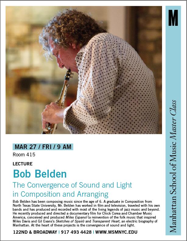 Bob Belden MasterClass at Manhattan School of Music 2