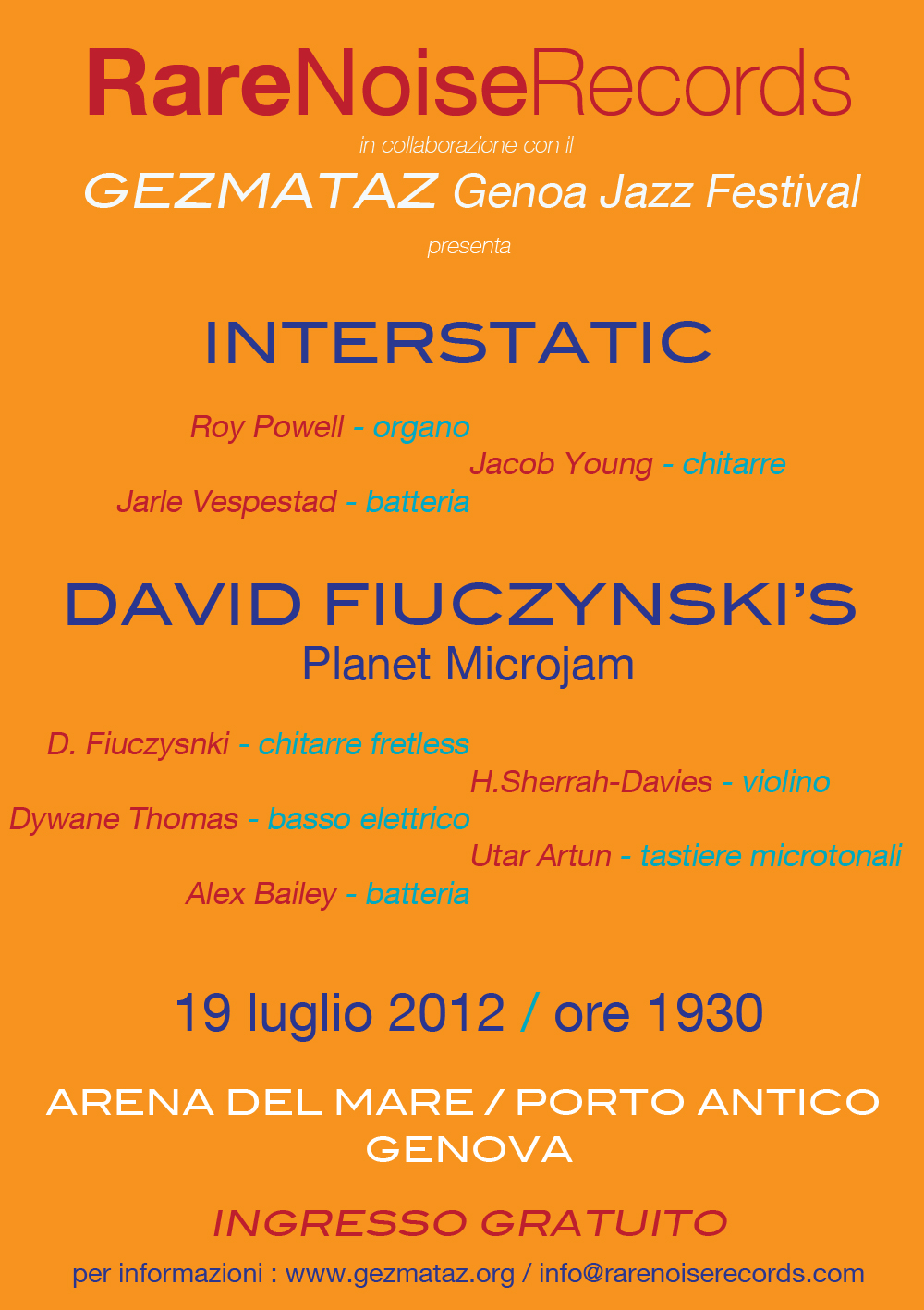 RareNoise Records Night at Gezmataz : InterStatic and Planet MicroJam 10