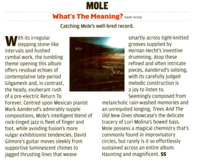 MOLE - JAZZWISE feature and other press 6