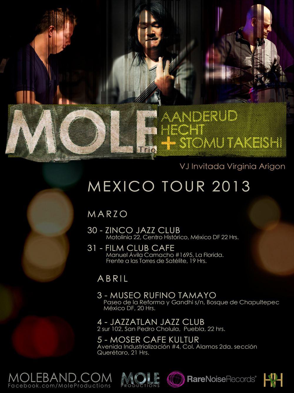 MOLE Trio - Mark Aanderud, Hernan Hecht and Stomu Takeishi on Tour 1