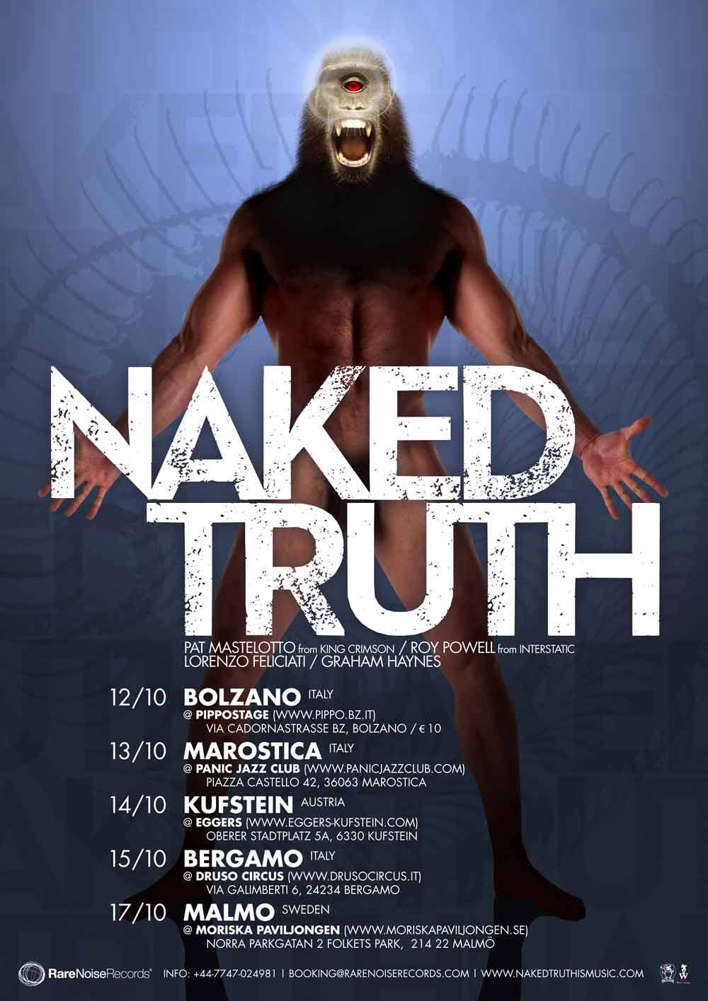 Live Event! Naked Truth European Minitour 12-17 October 2013 6