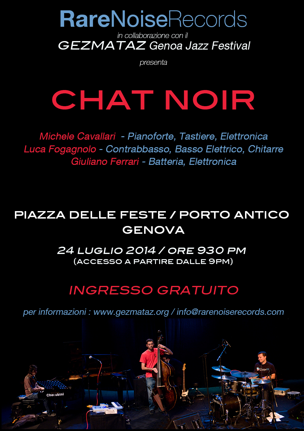 Chat Noir play the Gezmataz Festival in Genoa on July 24th 1
